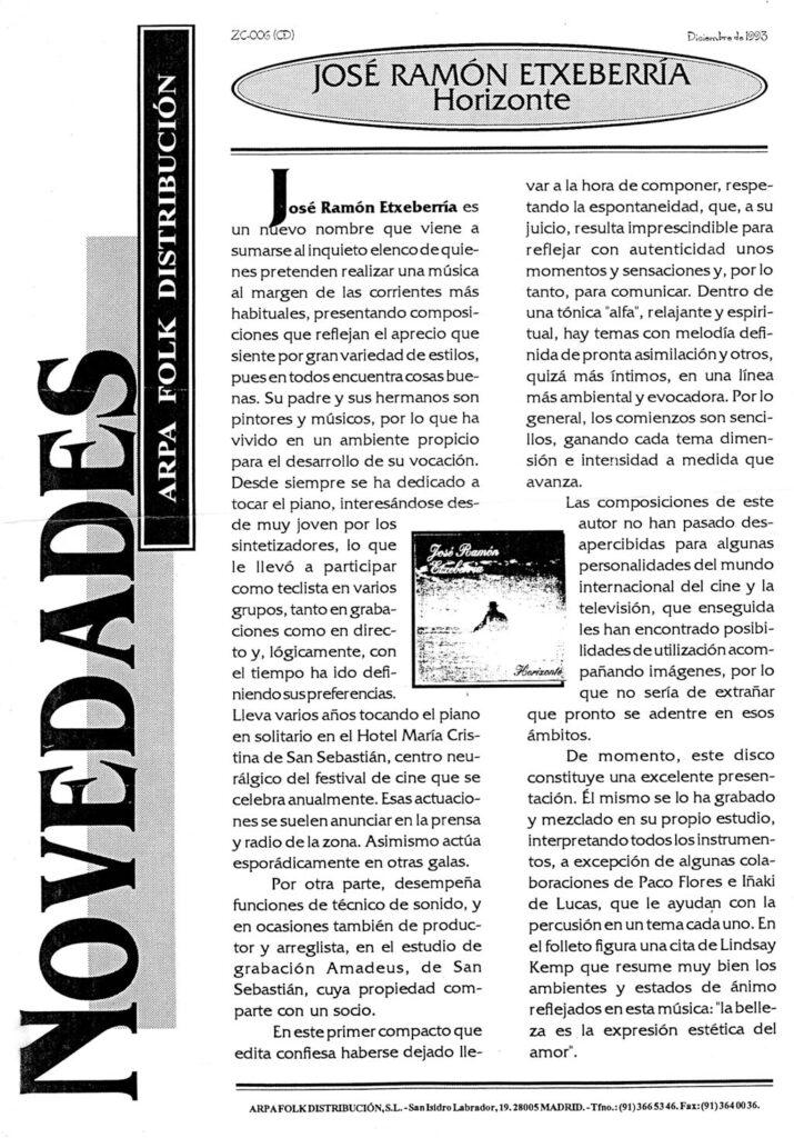 ARPA-FOLK presentación cd HORIZONTE